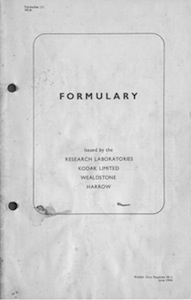 Kodak Formulary 1944