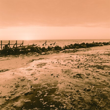 Happisburgh Beach - Lith print on Fomatone 131