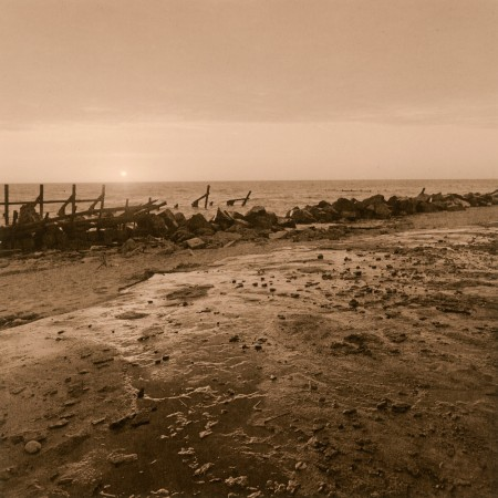 Happisburgh Beach - Lith print on Adox MCC Glossy