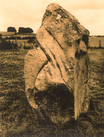 Avebury-West Kennet Avenue, Lith print from a 120 6x9cm negative